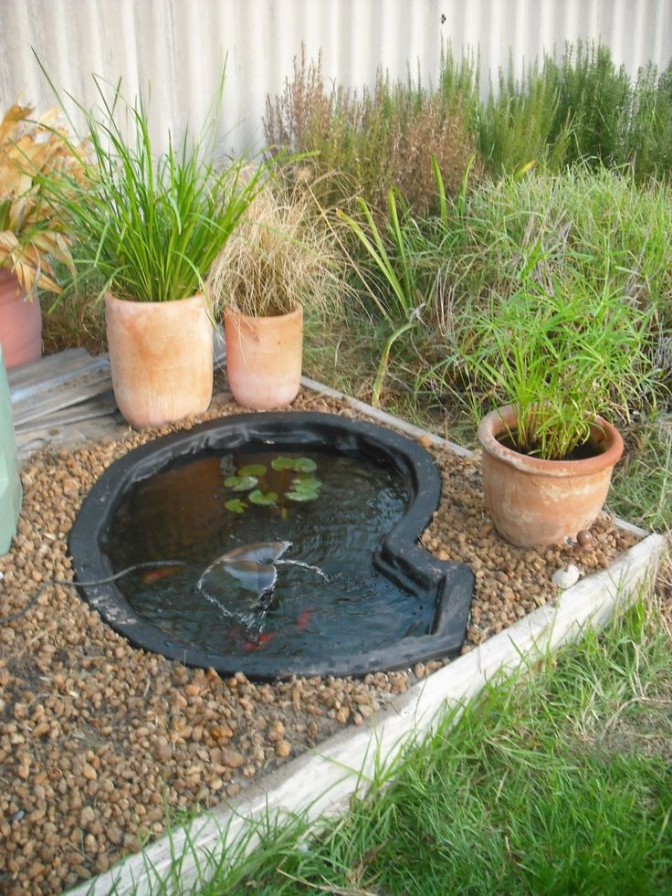 73 best garden images on pinterest backyard ponds for Small backyard fish ponds