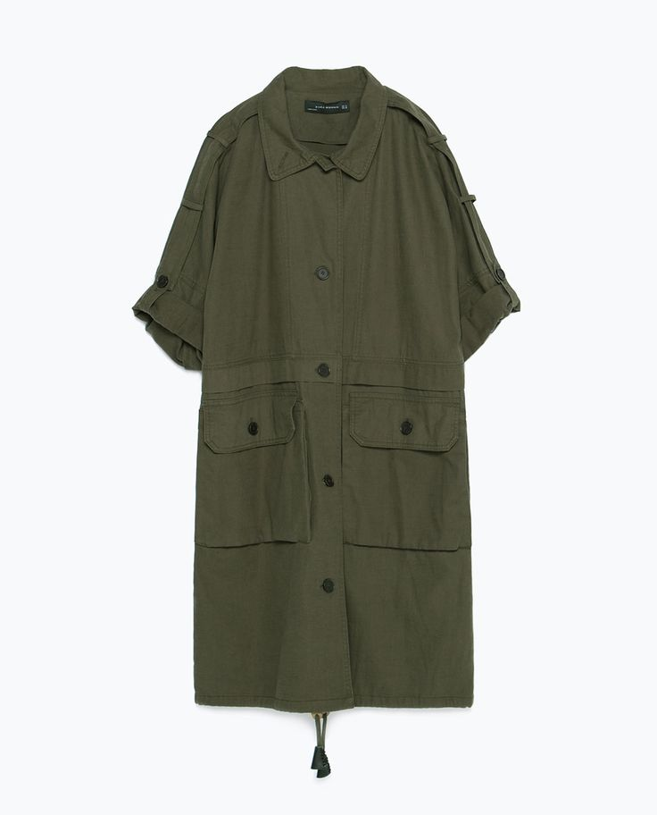 PARKA WITH ROLL-UP SLEEVES-View all-Woman-NEW IN | ZARA United States