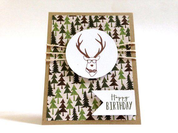 Deer Birthday Card Birthday Card For Dad Hunting Card Etsy Dad Birthday Card Birthday Cards For Him Outdoor Birthday