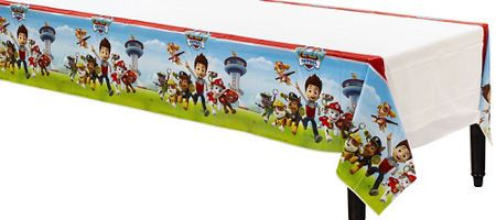 $4 PAW Patrol Table Cover 54in x 96in - Party City