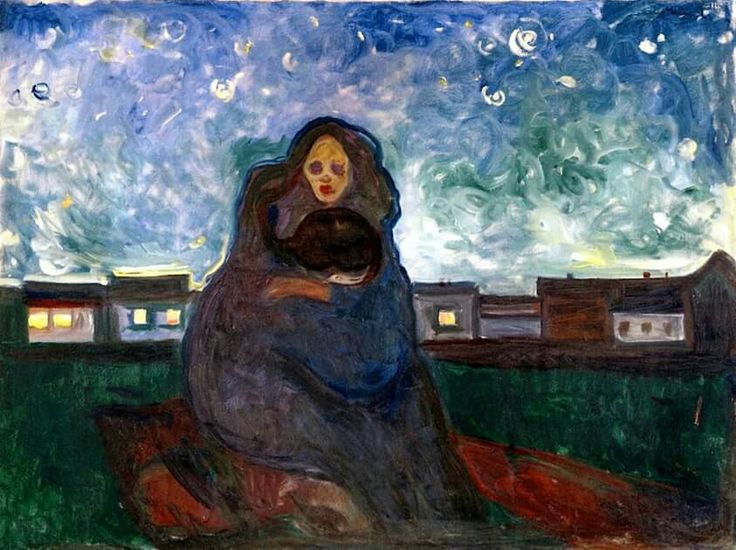Edvard Munch, sotto le stelle, 1900-05