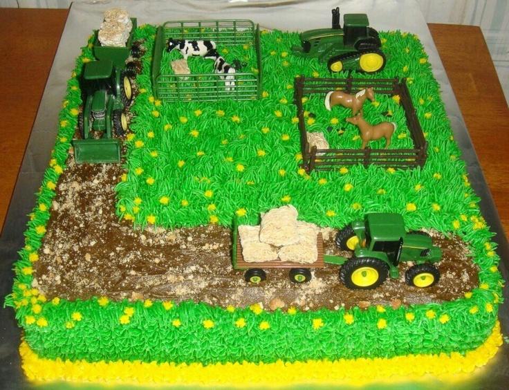 John Deere Cake Seth S 7th Birthday Cakes I Ve Made