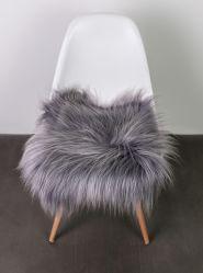Surrealz genuine Sheepskin icelandic long wool  seat pad chair cover rug grey