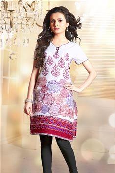 Casual Wear Printed Cotton Kurti