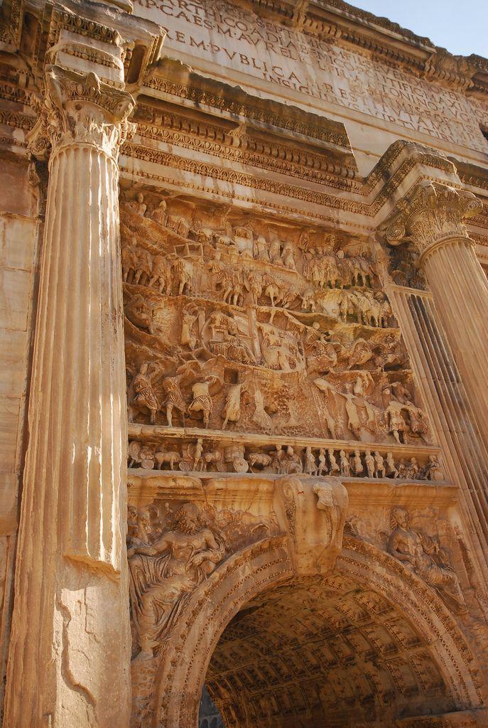 The Arch of Septimius Severus, Roman Forum, Rome, Italy
