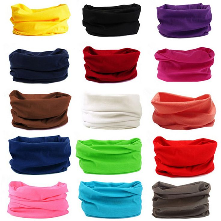 Solid Colors Headwear Beanie Scarf Bandana Head Face Mask Snood For Unisex Outdoor Equipment Women Headbands hair accessories
