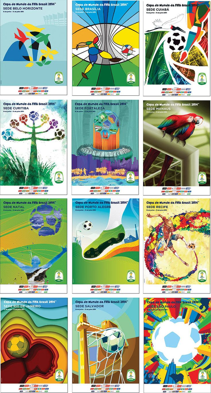 Carteles de las sedes oficiales de la Copa del Mundo brasil 2014 /Posters of the official cities of the FIFA World Cup Brazil 2014