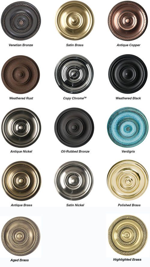 Hardware Finishes Color Chart Brass Accents Door