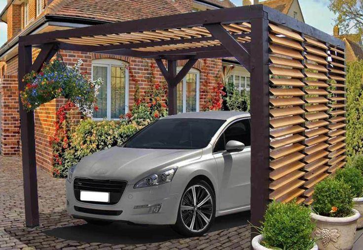 carport bois lames orientables