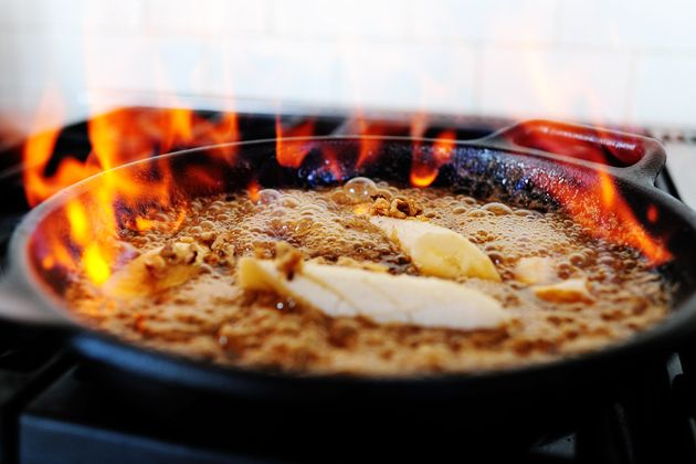 Bananas Foster ~ a dangerous dessert! I have always been to nervous to attempt, but now I'm gonna. As soon as I buy a fire extiguisher for the kitchen, that is!