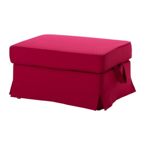 EKTORP BROMMA Footstool cover, Idemo red