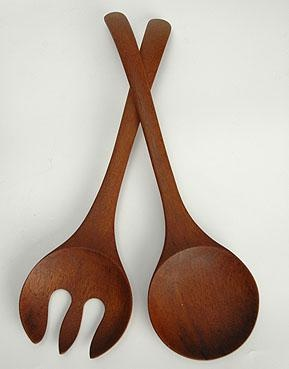 scandinavian teak salad tongs