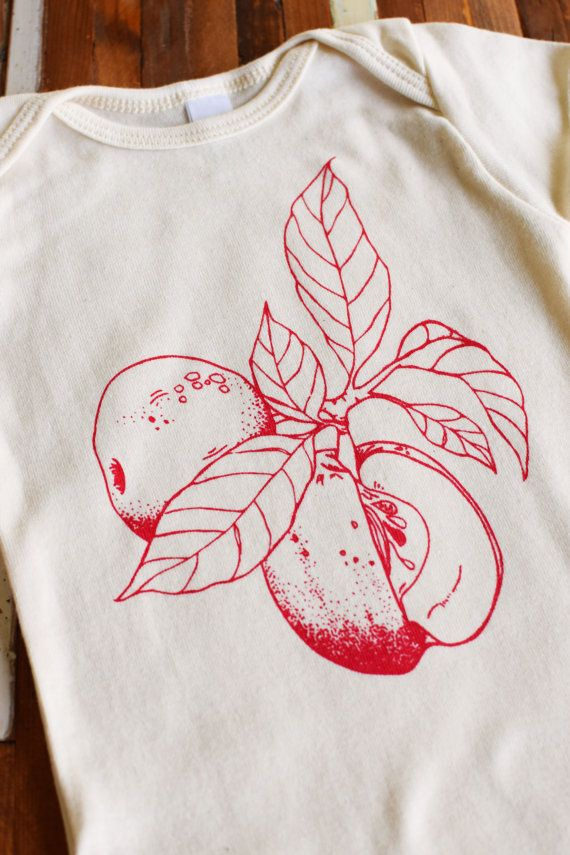 Organic Baby Clothing Screen Printed Hipster by ohlittlerabbit