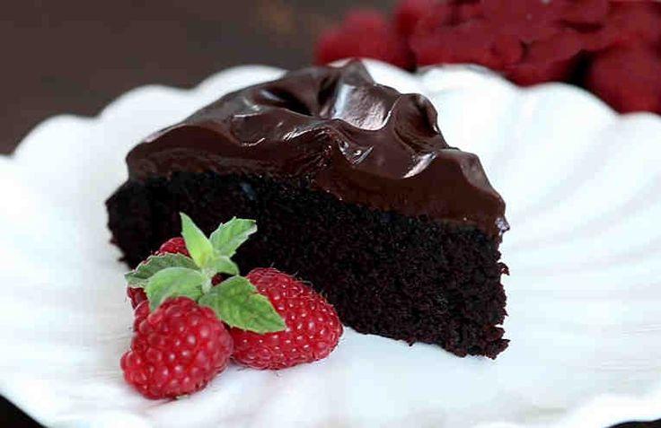 Torta loca. Con ganache de chocolate. Receta fácil.#sunhuevos #sinmantequilla #facil