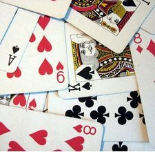 "Team building activities using standard deck of cards. ""Looks Count"" -- works well for non-verbal communication:"