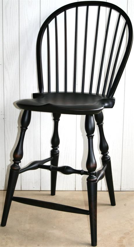Amish Reproduction Windsor Bar Stool Windsor F C And