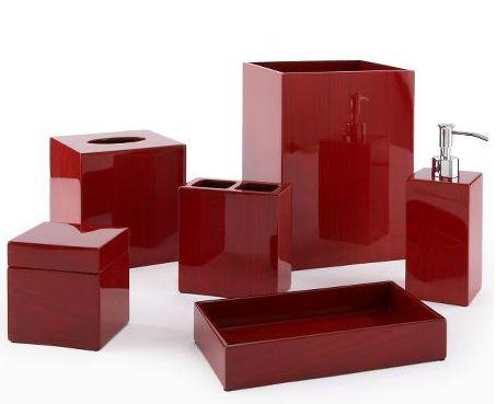 acessorios-para-banheiro kit completo vermelho