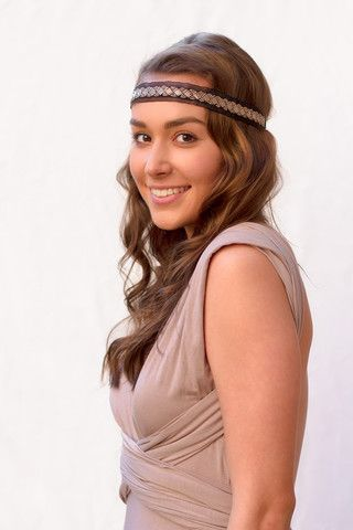 Sheer Gold Headband from Headbands of Hope.  For every headband purchased, one is given to a girl with cancer and $1 is donated to life-saving cancer research.