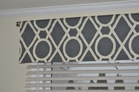 Valence kitchen curtains pinterest black pattern modern valances and valances - Modern valances for kitchen ...