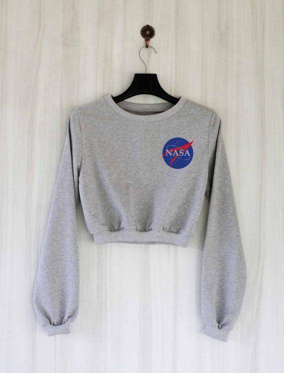 Nasa Crop Top Sweatshirt Women Crop Top Sweater Jumper Pullover Shirt Crop Sweatshirt Crop Sweater 1