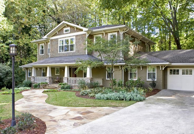 """The """"before"""" picture actually looks like our ranch style house. They added a second story. Love it!"""
