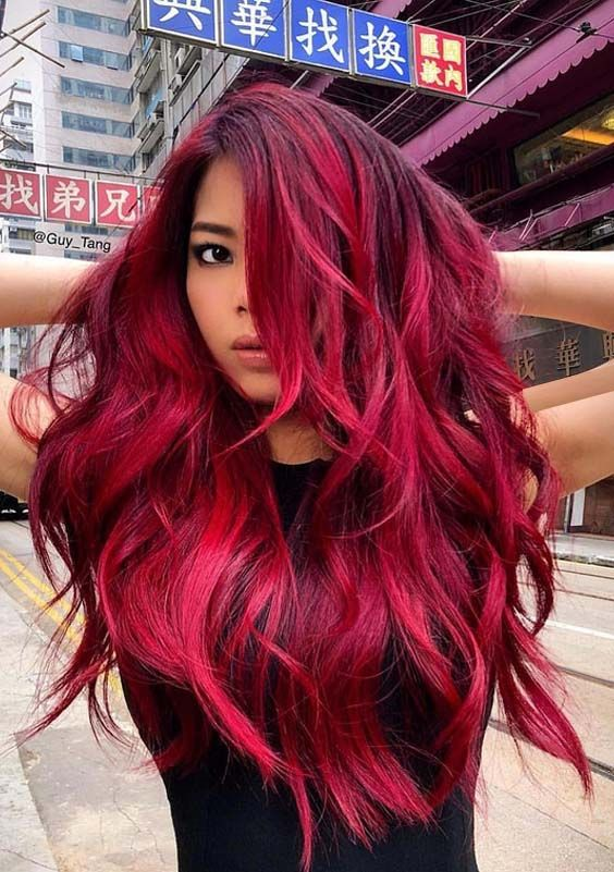 30 Hottest Ideas of Long Red Hairstyles for 2018 | hairrrrrrrr ...