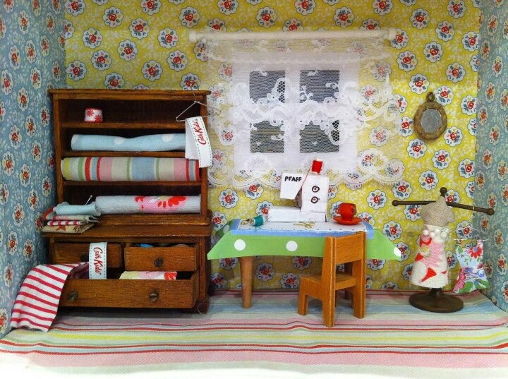 Found On Cath Kidston S Fb Page In Her Dream Room In A: 42 Best My Miniature Roomboxes Images On Pinterest