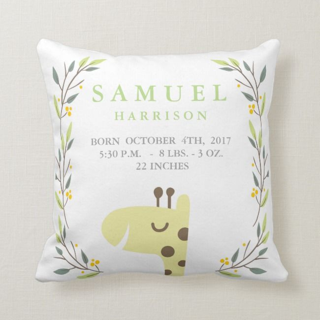 Honey Bee Birth Stats Pillow