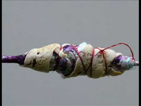 UK artist Maggie Ayres talks about her mixed media fiber cocoons.