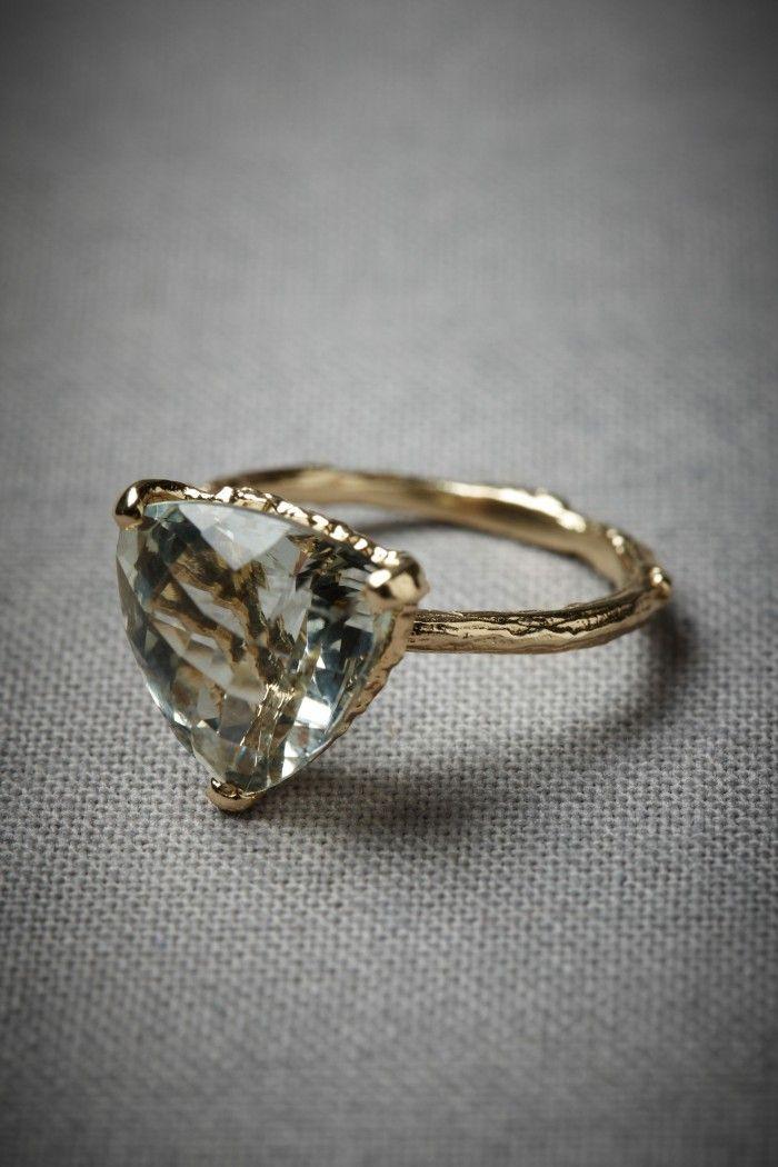 Sieraden om te maken - Woodland sun ring, groene amethist met goud, de ring waar ik JA tegen zou zeggen