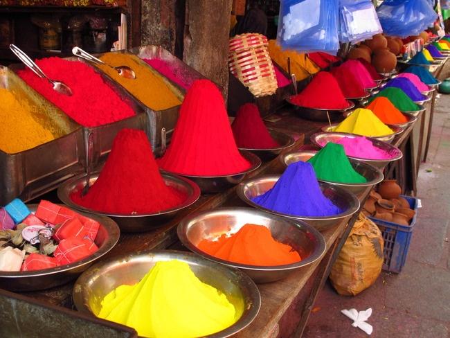 Market Places in India  Paint Pots at Mysore, Karnataka Markets.