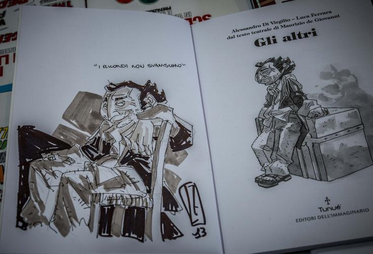 Dedica di Luca Ferrara a Napoli Comicon