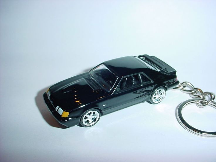 NEW 3D BLACK 1986 FORD MUSTANG SVO CUSTOM KEYCHAIN keyring key 2.3L turbo muscle