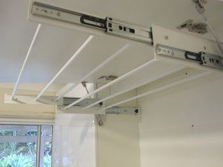 Pull out laundry airer cabinet