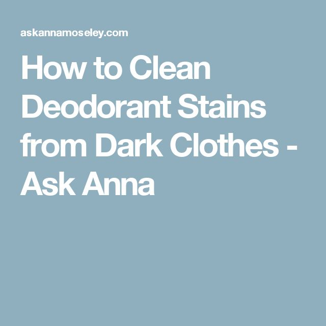 1000 ideas about remove deodorant stains on pinterest for How to get deoderant stains out of shirts