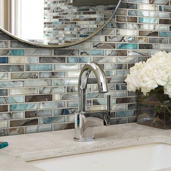 Neptune 1 Quot X 4 Quot Glass Mosaic Tile Glass Mosaic Tiles