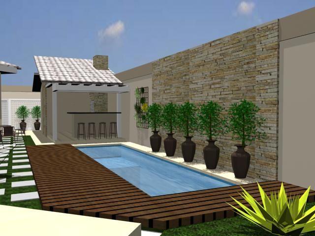 área de lazer com piscina e churrasqueira rústica - Pesquisa Google