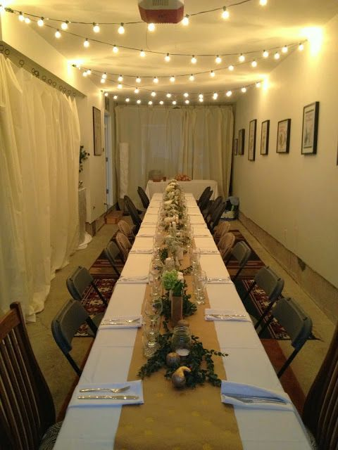 Hosting Thanksgiving Dinner | Small Space | Dinner Party in Garage