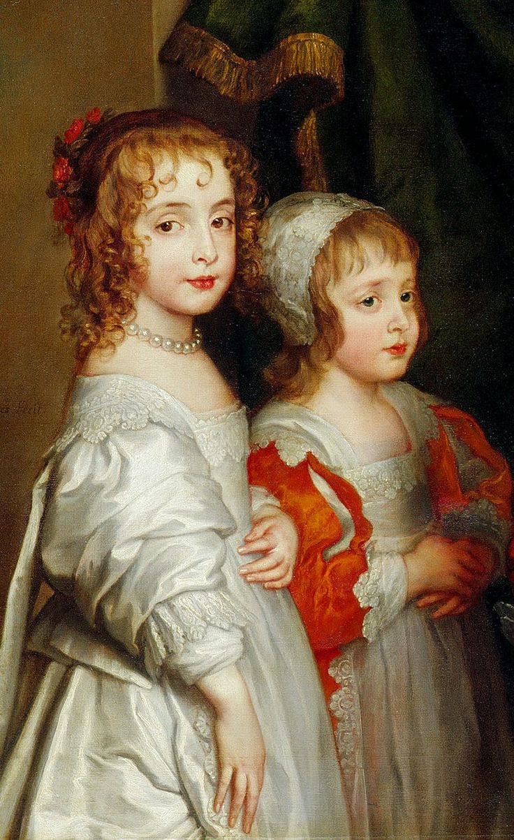 Sir Anthony van Dyck, 1637 Five Eldest Children of Charles I, (Mary and James.detail)