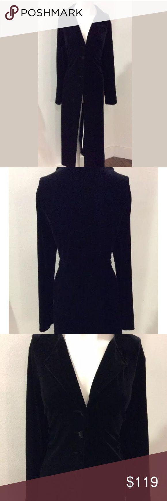 Cabi trench coat velvet Xs black Cabi designer trench velvet nwt CAbi Jackets & Coats Trench Coats
