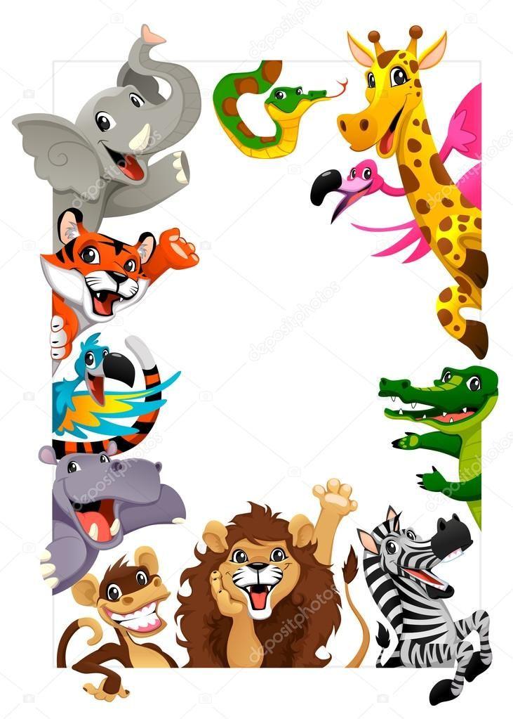 Engracado Grupo De Animais Da Selva Ilustracao De Stock 65600507 Cartoon Jungle Animals Jungle Animals Cartoons Vector