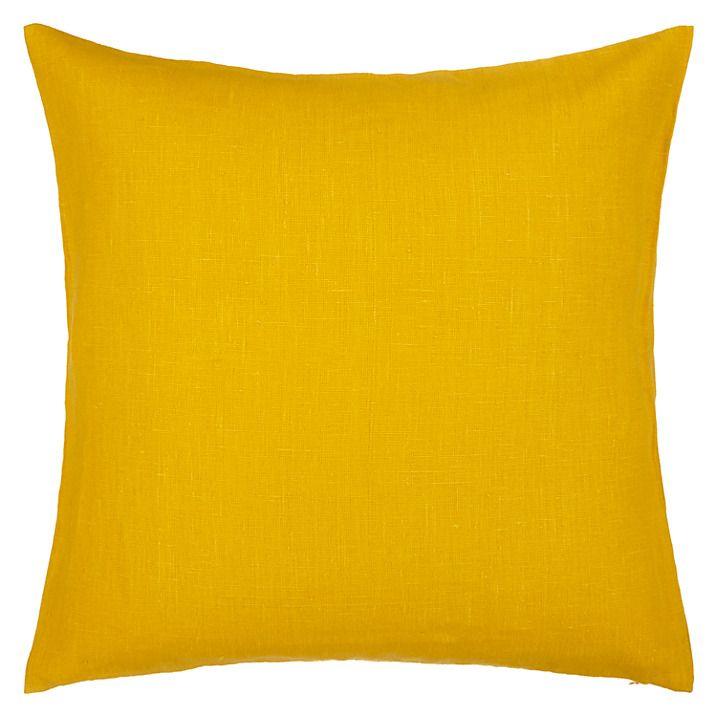 Buy John Lewis Linen Cushion, Saffron Online at johnlewis.com