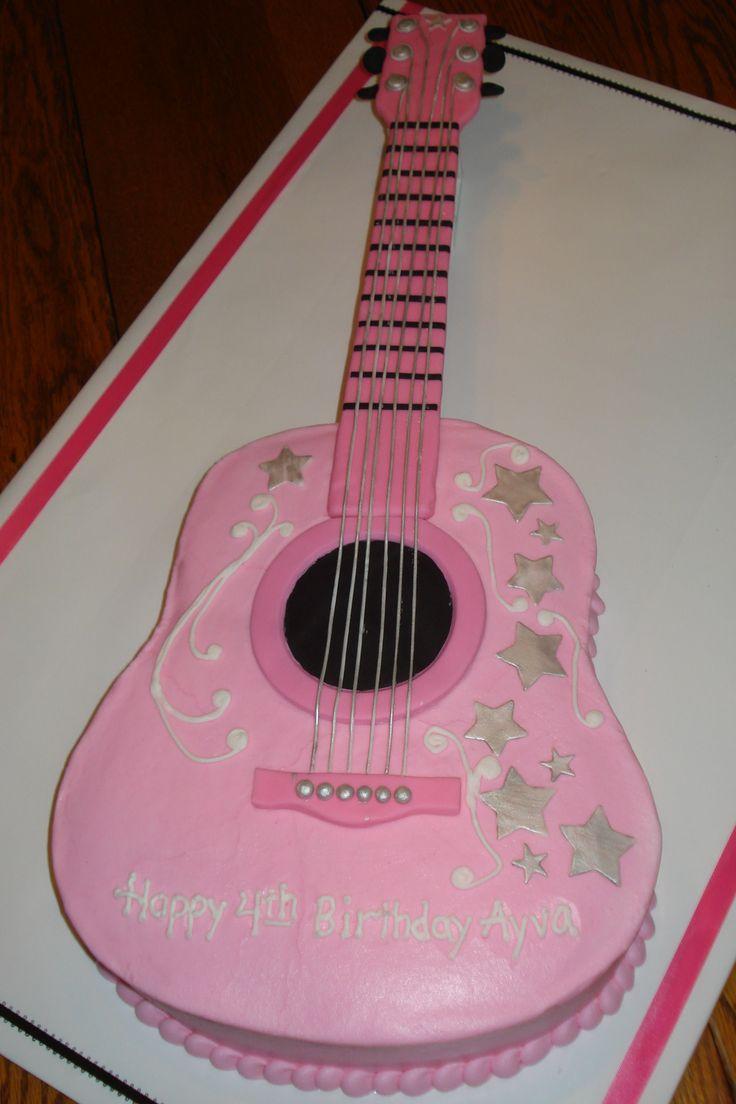 guitar cake design | Ayva's Pink Guitar cake - Cake Decorating Community - Cakes We Bake