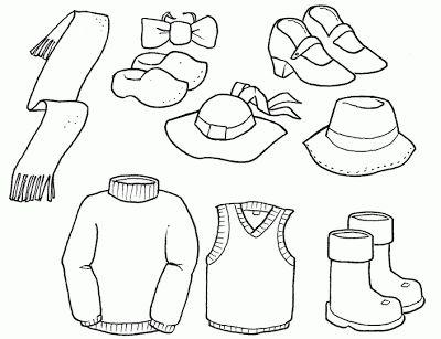 COLOREA TUS DIBUJOS: Dibujos de ropa para colorear