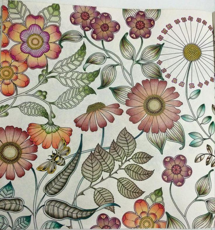 Big Flowers Double Page Secret Garden
