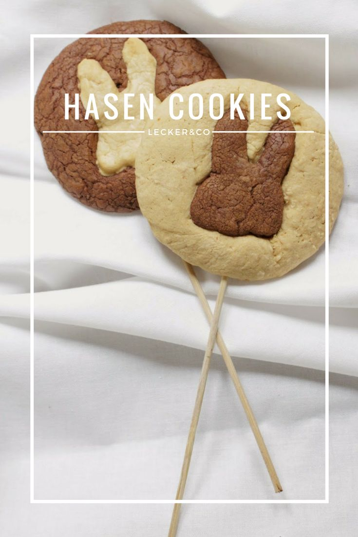 Osterhasen Cookies mit Karotte und Schokolade