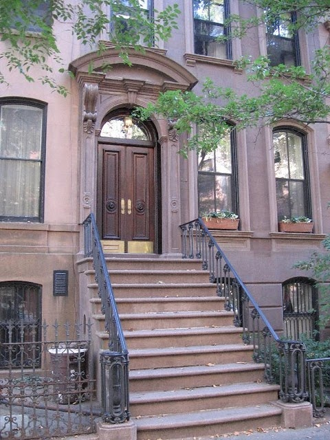 66 Perry St., New York, NY | Carrie Bradshaw's stoop    I need to find the picture of me standing here..