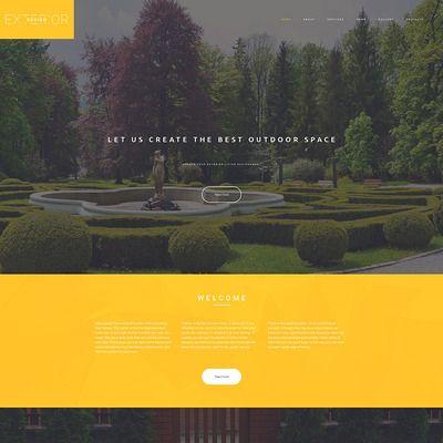 Exterior Design Parallax Plantilla Web Captura de Pantalla Pequeña