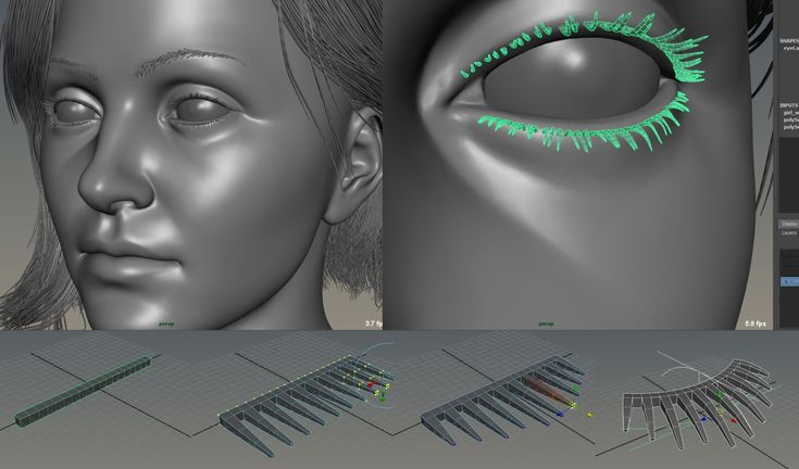 Modelling Eyelashes! - Polycount Forum