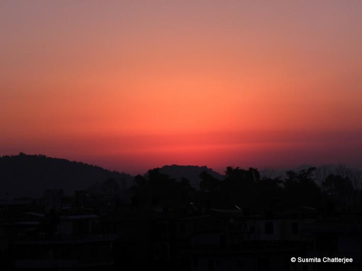 Early morning sky of Pokhara, Nepal
